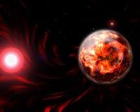 Illustration d'apocalypse de la terre de planète Photographie stock libre de droits