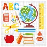 Illustration d'approvisionnements d'école Photographie stock libre de droits