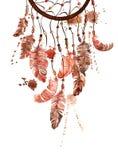 Illustration d'aquarelle avec le dreamcatcher Photos libres de droits