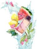 Illustration d'aquarelle d'arome de parfum Images stock
