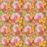 Illustration d'aquarelle d'une fraise Photos stock