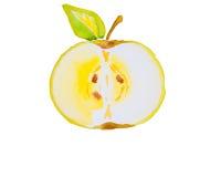 Illustration d'aquarelle d'une pomme Photo stock