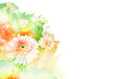 Illustration d'aquarelle de fleur Photographie stock