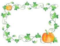 Illustration d'aquarelle de potiron de Halloween Photos libres de droits
