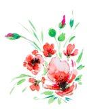 Illustration d'aquarelle d'une fleur Image libre de droits