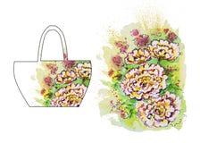 Illustration d'aquarelle d'une fleur Images stock