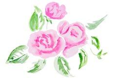 Illustration d'aquarelle d'une fleur Photo libre de droits