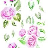 Illustration d'aquarelle d'une fleur Photos stock