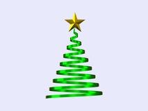 Illustration d'arbre de Noël sur le fond blanc Photo stock