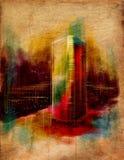 Illustration d'architecture rêveuse colorée Image libre de droits