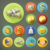 Illustration d'argent et de pièces de monnaie, d'affaires et de finances illustration stock
