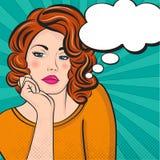 Illustration d'art de bruit de femme avec la bulle de la parole illustration de vecteur