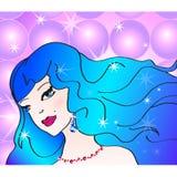 Illustration d'art de bruit de gentille fille à la disco Image stock
