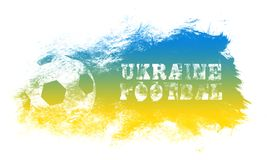 Illustration d'art du football de l'Ukraine Le football graphique de style de rue illustration libre de droits