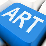 Illustration d'Art Key Means Artistic Or Photographie stock