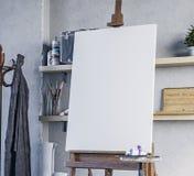 illustration 3D Art Workshop Mockup illustration stock
