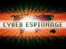 Illustration d'attaque criminelle de Cyber d'espionnage de Cyber 2d illustration de vecteur