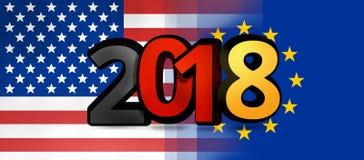 Illustration 3d audacieuse de l'Allemagne l'Europe Etats-Unis 2018 Photographie stock