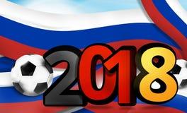 Illustration 3d audacieuse du football 2018 du football de la Russie Allemagne Photo stock