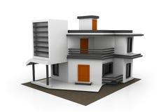 Illustration 3d auf weißem Hintergrund Stockbild