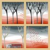 Illustration d'automne Photos libres de droits