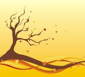Illustration d'automne Photos stock