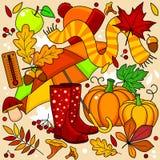 Illustration d'automne pour des enfants Photos stock