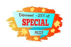 Illustration d'Autumn Discount Special Price Vector Photos stock