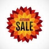 Illustration d'Autumn Leaves Sale Background Vector Images libres de droits
