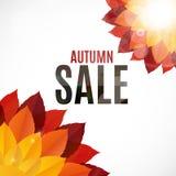 Illustration d'Autumn Leaves Sale Background Vector Image stock