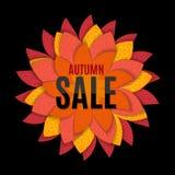 Illustration d'Autumn Leaves Sale Background Vector Photo stock