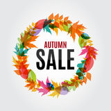 Illustration d'Autumn Leaves Sale Background Vector Photographie stock libre de droits