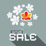 Illustration d'Autumn Sale Flat Design Vector Image libre de droits
