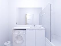 illustration 3d av badrummet för inredesign Royaltyfria Bilder