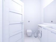 illustration 3d av badrummet för inredesign Arkivbild