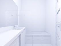 illustration 3d av badrummet för inredesign Arkivfoto