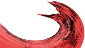 illustration 3D av den genomskinliga vätskevågen Royaltyfri Bild