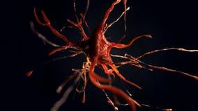 illustration 3d av den nerv- cellen Royaltyfri Foto