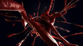 illustration 3d av den nerv- cellen Royaltyfri Fotografi