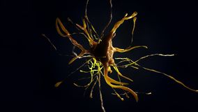 illustration 3d av den nerv- cellen Arkivbilder