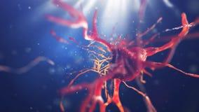 illustration 3d av den nerv- cellen Arkivfoto