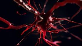 illustration 3d av den nerv- cellen Royaltyfria Bilder
