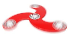 illustration 3d av den röda handspinnaren Arkivfoto