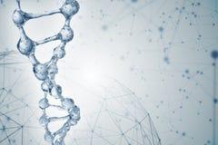 illustration 3d av DNAmolekylmodellen från vatten Fotografering för Bildbyråer
