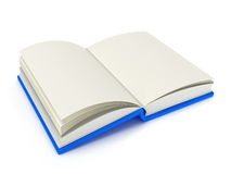 illustration 3D av en öppen bok Arkivbilder