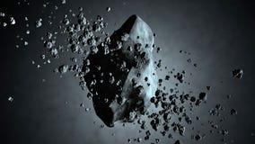 illustration 3D av en asteroid som svävar i utrymme Royaltyfri Bild