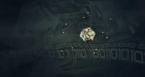 illustration 3D av en atom Royaltyfria Bilder