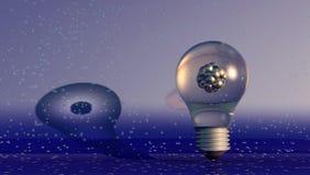 illustration 3D av en atom Fotografering för Bildbyråer