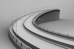 illustration 3d av en bro vektor illustrationer