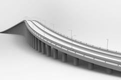 illustration 3d av en bro royaltyfri illustrationer